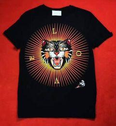 Wholesale Tshirt Neck Buttons Men - Italia Brand Casual short sleeve o-neck LOVE Angry Cat printed cotton t shirt men Fashion 2017 Hip Hop tee T-shirts mens tshirt camisetas