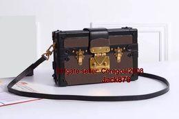 Wholesale Petite Small - Top original quality L mini small box clutch PETITE MALLE M40273 Maison trunks womens handbag shoulder bag Cross Body Satchel purse wallet