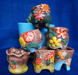 Wholesale 11 styles Variable mini pocket thumb Vase succulent ceramic flowerpot flower POTS potted plants pot
