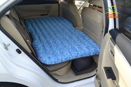 Wholesale Air Beds Mattresses - Wholesale- 2016 Top Selling Car Back Seat Cover Car Air Mattress Travel Bed Inflatable Mattress Air Bed Good Quality Inflatable Car Bed