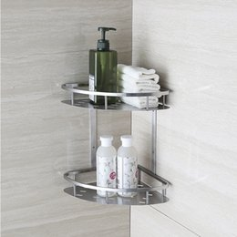 Wonderful BLH821 Double Tier Brushed Nickel Stainless Steel Wall Bathroom Shelf Shower  Caddy Rack Bathroom Accessories Shelves 2 Layers From Dropshipping Suppliers