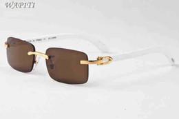 Wholesale white wood boxes - Luxury Men Designer Buffalo Horn Glasses Wood Sunglasses Summer Styles 2017 Fashion Brand Designer sunglasses for men With Box Eyewear