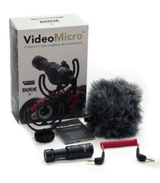 Wholesale Dslr Handheld - Best Quality Rode VideoMicro Compact On-Camera Recording Microphone for iPhone 6s Plus DJI Osmo DSLR Camera Microfone DSLRK