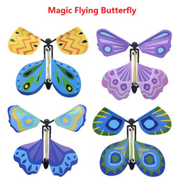 Wholesale Flying Change - New magic butterfly flying butterfly change with empty hands freedom butterfly magic props magic tricks z071