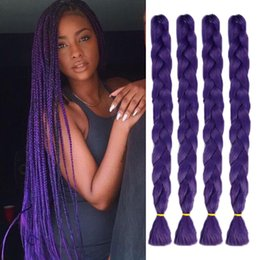 "Wholesale 17 Extensions - 41"" Long Synthetic Jumbo Braid Crochet Hair Extension 17 Colors In Stock KANEKALON Fiber Hair For Dreadlocks Faux Locs Twist Hair Braiding"