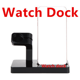 Wholesale Desk Charger - 2 in 1 Charging Dock For Apple Watch Dock Stand Charger Desk Holder Station For Apple Watch For Samsung S6 s5 S4 S3 HTC Xiaomi Huawei phone
