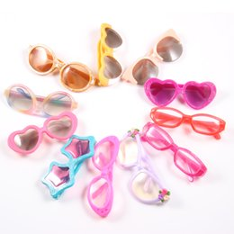 Wholesale Bags For Baby Accessories - 1set = Sunglasses+ White Glasses Bag Doll accessories,Hot Selling Sunglasses fit for Americal Girls 43cm doll Baby Born zapf G8