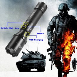 Wholesale Bright Rechargeable Flashlights - AloneFire TK700 L2 usb rechargeable Search and rescue LED Flashlight Super Bright for Emergency and Self Defense