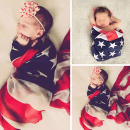 Wholesale Pet Photography - Newborn photography blanket Baby photo props American flag backdrops baby pet Art fabric cloth photography Towels 2styles