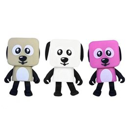Wholesale bass electronics - Wireless Bluetooth Dancing Robot Dog Stereo Bass Speakers Electronic Walking Toys Kids Smart Gifts Portable Speaker 12pcs OOA3773