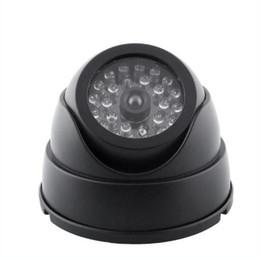 Wholesale Dummy Security Surveillance Camera - New Indoor Outdoor Waterproof IR CCTV Dummy Dome Camera LED Fake Surveillance Security ann