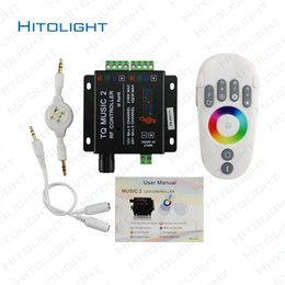 Wholesale Remote Controller 12 Channel - HITOLIGHT DC12V-24V RGB Touch Remote Controller RF Music Audio Control 18A 3 Channel TQ Music 2 for SMD 2835 5050 LED Strip Light