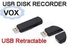 Gravador de voz de espião de áudio on-line-4 GB 8 GB 16 GB USB Flash Driver Espião Ocultador de Voz Ativado Gravador de Voz de Áudio Digital de 15 Horas de Gravação De Caixa De Plástico pacote