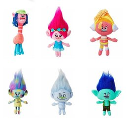 Wholesale Mega Cartoons - 23cm 36cm Trolls Mega Town The Good Luck Trolls Ogres Poppy Branch Dream Works Doll Cartoon Movie Plush Toy Stuffed Dolls Anime Gift
