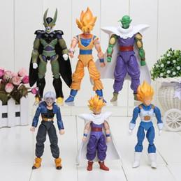 Wholesale Dragon Ball Figures Set - 2017 new Dragon Ball Z Joint Movable Vegeta Piccolo Son Gohan Son Goku Trunks PVC Action Figure Toys 6pcs set 13-15cm