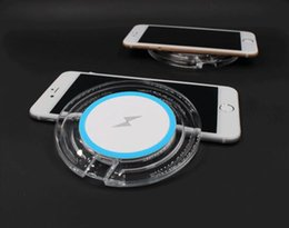Wholesale Led Light Pads - Crystal LED Wireless Charger Charging Pad Plate With LED Lighting Icon For Samsung Galaxy S6 S6 Edge   S7  S7 Egde  Note5