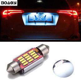 Wholesale Crystal Light Bulbs - BOAOSI Canbus No Error 36MM C5W LED License Plate Lights Bulbs for Mercedes Benz W208 W209 W203 W169 W210 W211 W212 AMG CLK