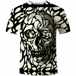Wholesale Skull Hooded - Wholesale- New Design Skull Print Mens tshirt Fashion 3D T-Shirt Summer Short Sleeve Casual Breathable Tops Tee Plus Size 5XL T shirt Homme