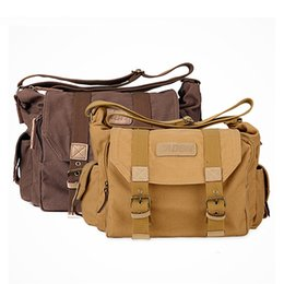 Wholesale Cameras Waterproof Vintage - Portable Vintage Canvas DSLR Camera Shoulder Bag Messenger Bag for Canon Nikon Sony Olympus Pentax