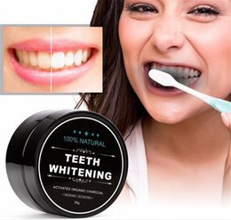 Wholesale Teeth Whitening Powder - Tooth Whitening Nature Bamboo Activated Charcoal Smile Powder Decontamination Tooth Yellow Stain Bamboo Toothbrush Toothpaste Oral Care X040