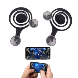 Wholesale Touch Screen Joystick - Game Mobile Joystick Phone Mini Game Rocker Touch Screen Joypad Tablet Sucker wireless Game Controller For iPad iPhone cell phone 2pcs Set