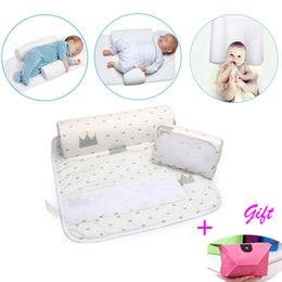 Wholesale baby anti roll pillows - New Baby Infant Newborn Sleep positioner Anti Roll Pillow With Sheet CoverNew Baby Infant Newborn Sleep positioner Anti Roll Pillow With She