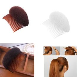 Pince à cheveux rembourré en Ligne-Cheveux Styling Clip Flaxen Hair Puff pâte Cheveux pad Styling Clip Stick Bun Maker Braid pour les femmes