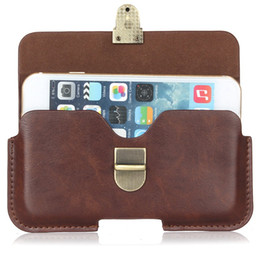 Wholesale Shell Case Blackberry - Newest Leather bag mobile phone bag phone shell leather case Universal all phones 4.7 5.1 5.5 6.3 inch Boss pocket Purse High fashion