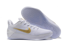 Wholesale KB Kobe AD White Gold Christmas Day PE Sneakers Mens Basketball Shoes