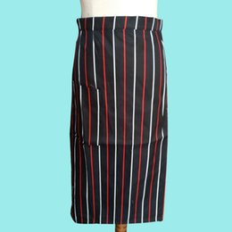 Wholesale Wholesale Canvas Apron Pockets - Fashion Plain Apron stripe with Front Pocket for Chefs Butchers Kitchen Cooking Craft UK Baking Home Cleaning Tool Accessories Wholesale