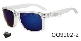 Wholesale Sunglasses Bicycle Goggles Lens - brand new Men's white Frame gray lens Sunglasses Bicycle Cycling Eyewear Glasses Sport Sunglasses With Case