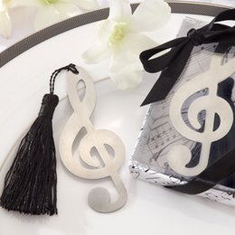 Wholesale Alloy Book Marks - 200pcs Alloy Sliver Music Note Bookmark Books Markers Label Stationery Exquisite Gifts School Book mark wa3001