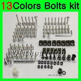 Wholesale Honda Fairing Nsr - Fairing bolts full screw kit For HONDA NSR250R MC18 PGM2 NSR 250R NSR250 R NSR250RR 88 89 1988 1989 Body Nuts screws nut bolt kit 13Colors