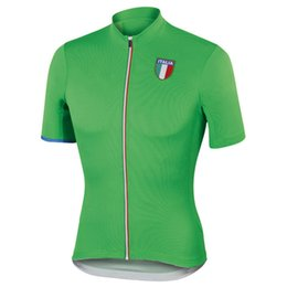 Wholesale Cycling Jersey Gray - 2018 NEW mens Italy Cycling Jersey 2016 pro team red green gray Clothing Cycling Wear Racing BicycleClothes Cycling Clothing jiashuo