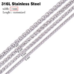 Wholesale Christmas Swags - Wholesale- 3.0mm width 316L stainless steel chain necklace men long punk statement swag chain necklace vintage men jewelry