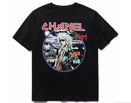 Wholesale Japan Printed T Shirt Men - 2017 TOP KANYE WEST WORLD TOUR 1983 USA JAPAN men short sleeves t shirt justin bieber Hiphop Fashion Casual Cotton Tee black