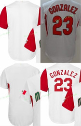 Wholesale Black Mexicans - Team Mexico Jerseys 2017 World Baseball Classic Mexican 23 Adrian Gonzalez Jersey For Sport Fans Breathable Color White Free Shipping