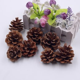 Wholesale Cheap Decoration For Home - 30pcs Pine Tower Artificial Flower For Diy Wedding Home Decoration Accessorie Flowers Scrapbooking Gift Cheap Lifelike Plants