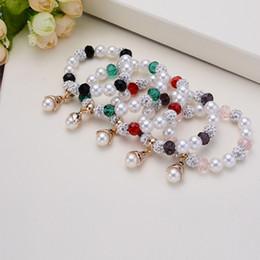 Wholesale Macrame Pendants - New Shamballa Crystal Beads Bracelets Macrame Disco Ball Bracelets Jewelry Pearl Pendant charm bracelet