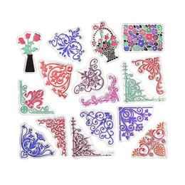 Wholesale Scrapbooking Card Making Supplies - Wholesale- 15 X15 cmColorized Flower vine Design Clear Transparent Stamp DIY Scrapbooking Card Making Christmas Decoration Supplies signet