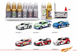 Wholesale remote control bullets - Car in Bullet 1:58 High Quality Hot Sale Coke Can Mini RC Car Radio Remote Control Micro Racing Car