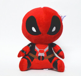 Wholesale Marvel Comic Cartoons - Cartoon Marvel Deadpool Plush Toy Plush Stuffed Doll 20CM 1PCS With Suction Cup Free Shipping Gift