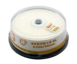 Wholesale Printable Cds - Woodpecker waterproof Printable blank DVD + R DL D9 8 x burn 8.5G CD disc 25pcs lot