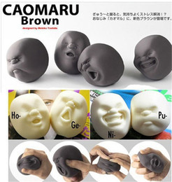Wholesale Character Resins - Wholesale Vent Human Face Ball Anti-stress Ball of Japanese Design Cao Maru Caomaru Adult Kids Funny Decompression stress Toy Gift