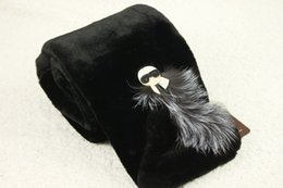 Wholesale Scarf Ring For Men - Wholesale- scarf luxury brand Solid Scarves rabbit fur scarf Soft Warm Scarf for Female Cross Fluffy Ring Ladies Size 100*21