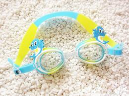 Wholesale Glasses Box Children - children Swim eyewear male and female anti fog Big box Swimming Diving goggles cartoon swimming glasses 77