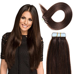 "Wholesale Taped Wefts Hair Extensions - 40g 20pcs Tape In Human Hair Extensions 20""-28"" Natural Color #613 Blonde Peruvian Hair Skin Wefts PU Tape Hair"