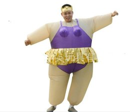 Wholesale Newest Movies - Onesie Promotion 2017 Newest Inflatable Ballet Costume Halloween Party Funny Fat Man Fancy Animal For Adults With Free Shipping