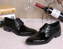 Wholesale Italian Office Shoes - Big Size 39-45 Luxury Italian Style Brand Men's Business Dress Leather Shoes Men Formal Derby Oxford Shoes Wedding Party Shoe