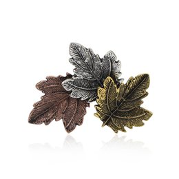 Wholesale Vintage Leaf Pin Brooch - 2017 Trendy Vintage Maple Leaf Brooch Bohemia Tassel Leaves Pins And Brooches Exquisite Brooches For Women Men Fashion Party Jewelry